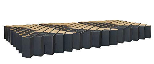 ROOM IN A BOX Familienbett (Schwarz, 270 x 200 cm): Nachhaltig aus recycelter Schwerlast-Wellpappe, TÜV-geprüft, frei von Schadstoffen, flexibel
