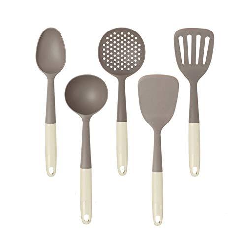 CJTMY 10 unids Silicona de Silicona sin paletas Conjunto de Utensilios de Cocina Espátula Spoon Conveniente Cubiertos Kit Spoon Spatula Utensilios de Cocina for Cocina