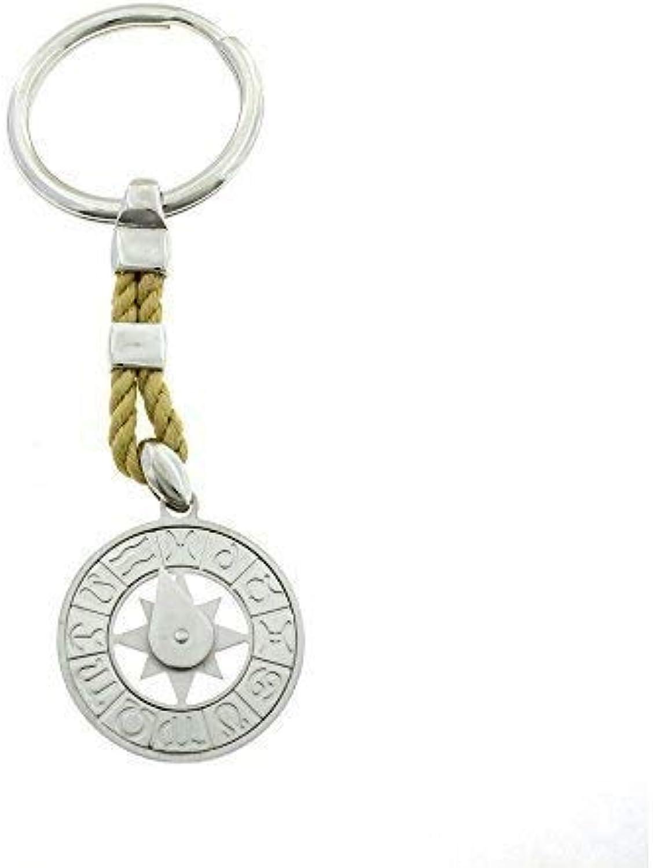 Schlüsselanhänger mit Kordel Kordel Kordel beige und HGoldskop Sterling Silber 925 hypoallergen verGoldet weiß B07467F7N5 61ea48