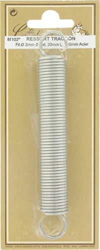 Ressort traction - Longueur 200 mm - Diamètre Fil : 1,8 mm - Extérieur : 12,5 mm - Vendu par 1