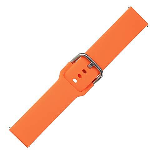 YNLRY Banda de reemplazo de Silicona para la Pulsera de cinturón de la Correa de Haylou LS01 para Haylou LS01 Smart Watch Pulsera Accesorios (Color : Orange Red, Size : For Haylou LS01)