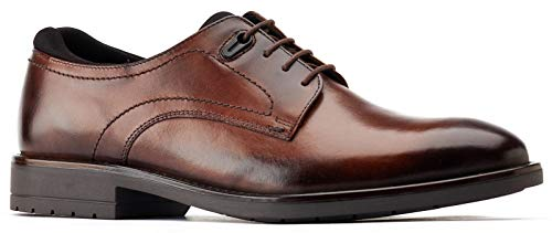 Base London Osprey Brown Mens Leather Derby Shoes