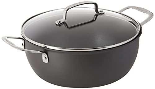 Cuisinart 650-26CP Chef's Classic Nonstick Hard-Anodized 5-Quart Chili Pot with Cover,Black