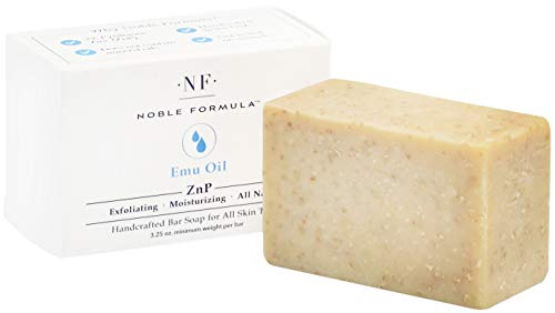 Noble Formula 2% Pyrithione Zinc (ZnP) Original Emu Bar Soap, 3.25 oz