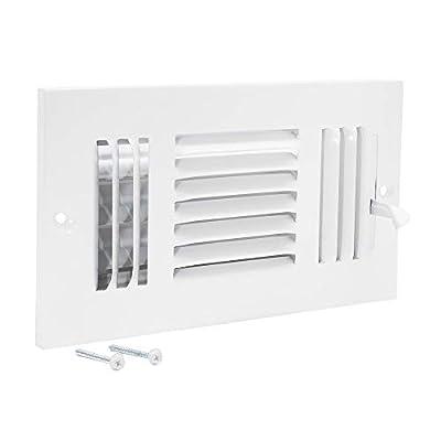 EZ-FLO 61658 Three-Way Steel Ventilation Steel Sidewall or Ceiling Air Register