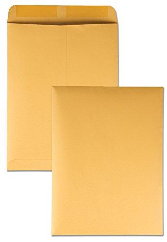 Quality Park 41465 Quality Park Catalog Envelopes, Heavyweight/Gummed, 9x12, 28lb, Kraft, 250/Box (QUA41465)
