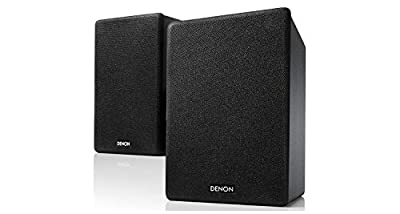 Denon SCN10 Speakers, Two-Way HiFi Speakers for TV Sound System, 2x 65W, Compatible with Receivers & Amplifiers, Elegant Design - Black SCN10BKEM from Denon