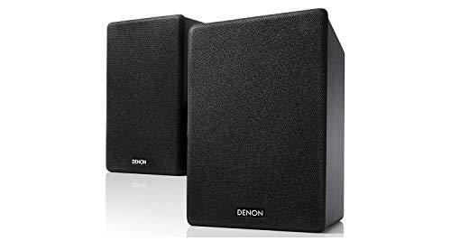 Denon SCN10BKEM - Altavoces de Alta fidelidad bidireccionales para Sistema de Sonido de TV, 2 x 65 W, Compatible con receptores y amplificadores, diseño Elegante, Color Negro SCN10BKEM