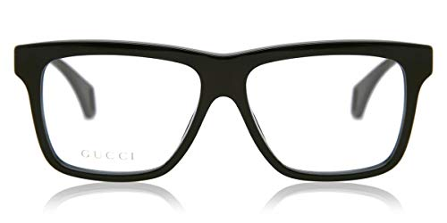 Gucci Occhiale da Vista GG0464O 006 nero montatura plastica taglia 56 mm occhiale uomo