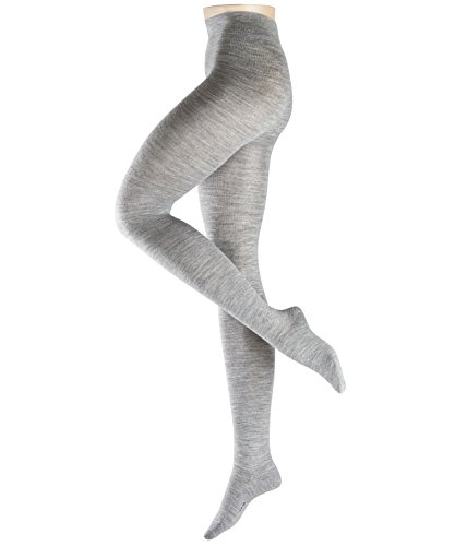 ESPRIT Damen 18093 Strumpfhose, Grau (Light Grey Melange 3390), M (DE 38-40) (2er Pack)