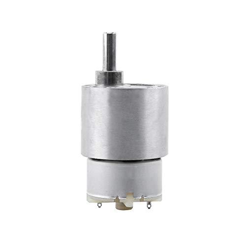 Akozon Getriebemotor DC 12V Drehmomentgetriebe, Elektromotor 3,5/15/30 / 70RPM Reduktion Motor 37MM Getriebemotor RF-500 Miniatur-Getriebemotor(30RPM)