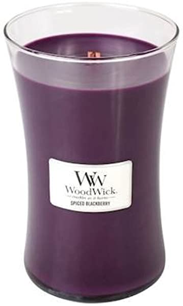 WoodWick Spiced Blackberry 21 5 Ounce Large Jar Candle Burns 180 Hours
