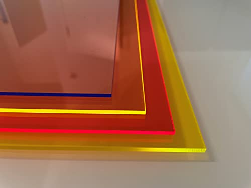 3mm PLEXIGLAS® Acrylglas FLUORESZIEREND BLAU 200x200mm