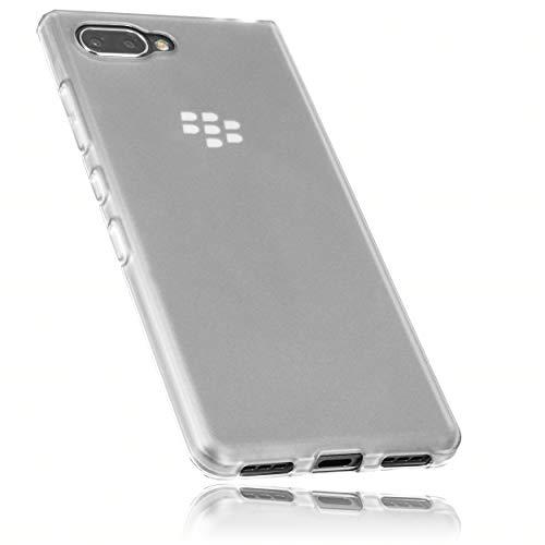 mumbi Coques Compatible avec Blackberry Key2 Le, Blanc Clair