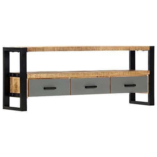vidaXL Massief Mangohouten Tv-meubel 130x30x50 cm Tv-Kast Televisiemeubel