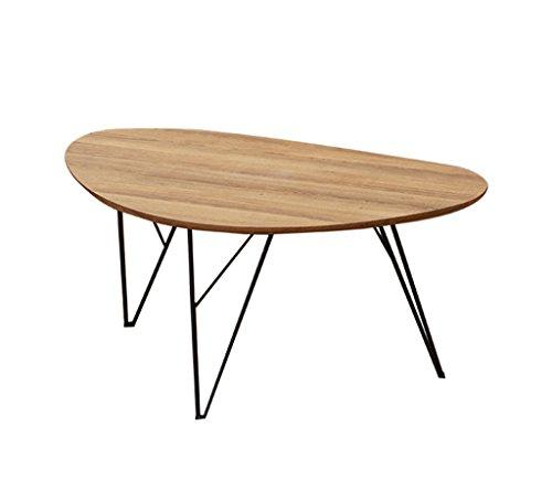 HQCC Mesa de Centro Ovalada, Mesa de café Sala de Estar Mesa de negociación de Madera Simple Creativa Combinación de número de tamaño de Dormitorio (Color : C-60 * 40 * 38CM)