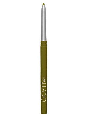 Palladio Retractable Waterproof Eyeliner, Olive, Richly Pigmented and Creamy, Slim Twist Up Pencil Eyeliner, No Smudge Formula with Long Lasting Application, No Eyeliner Sharpener Required