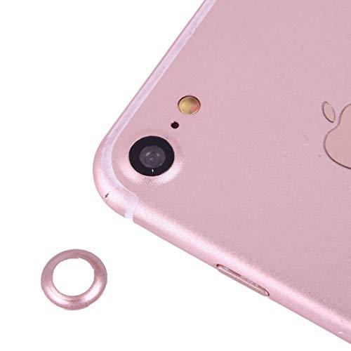 XUAILI Webcam afdekking achtercamera lens beschermer met naald, voor iPhone 7, roze goud