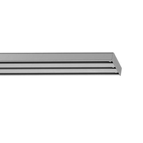 Lichtblick FLV.160.05 Vorhangschiene für Flächenvorhang, 3-läufig, 160 cm Aluminium