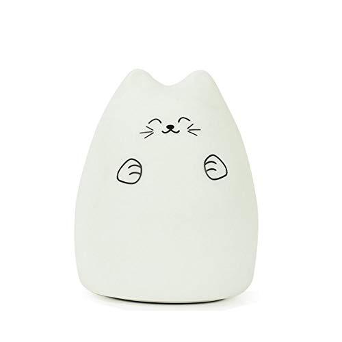 XHSHLID Lichtsnoer voor kinderen, van siliconen, zacht, kattenvorm, oplaadbaar, met led-nachtlampje voor kinderen