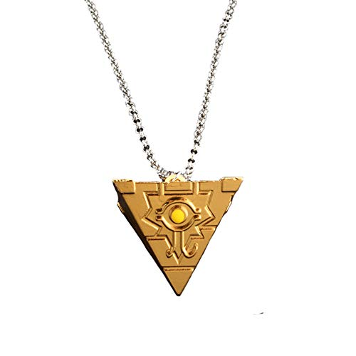 Moniku Yu-Gi-Oh Millenium Puzzle YuGiOh Millennium Pendant Necklace Cosplay Accessories (Gold)