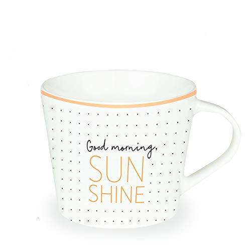 Grafik Werkstatt Kaffee-Tasse mit Echtgold | Porzellan Tasse | 420 ml | Good morning Sunshine