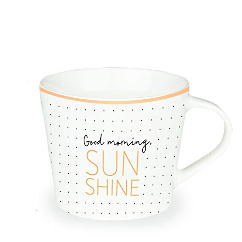 Grafik-Werkstatt Premium-Tasse, Lieblingstasse, Kaffeetasse, Teetasse, Goldveredlung, Good Morning Sunshine
