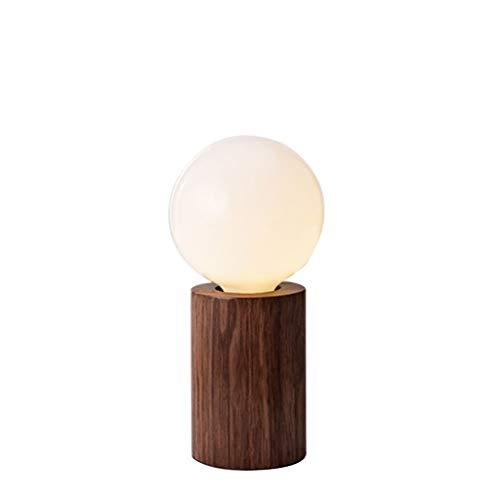 YIXIN2013SHOP Lámpara Mesilla de Noche Nordic Mini Lámpara de Mesa Estudio Dormitorio Lámpara de cabecera Lámpara de Mesa Europea Simple Lámparas de Escritorio (Color : Brown)