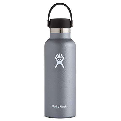 Hydro Flask Standard Mouth Water Bottle, Flex Cap - 18 oz, Graphite