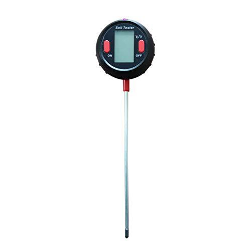 Medidor de pH del suelo, 5 en 1, medidor de humedad/luz/pH del suelo, termómetro higrómetro para plantas, intensidad de la luz solar, prueba de humedad para la agricultura en el jardín