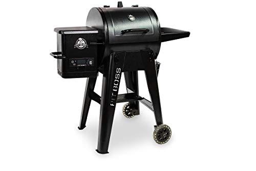 PIT BOSS Navigator 550 - Barbacoa de pellet, color negro, acero, 119 x 79 x 119 cm, con pantalla digital