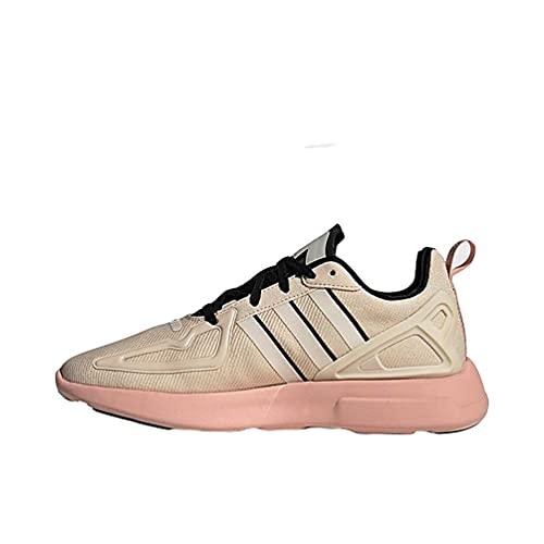 adidas Originals Women's ZX 2K Flux Sneaker, Linen/Black/Vapour Pink 6.5 M US