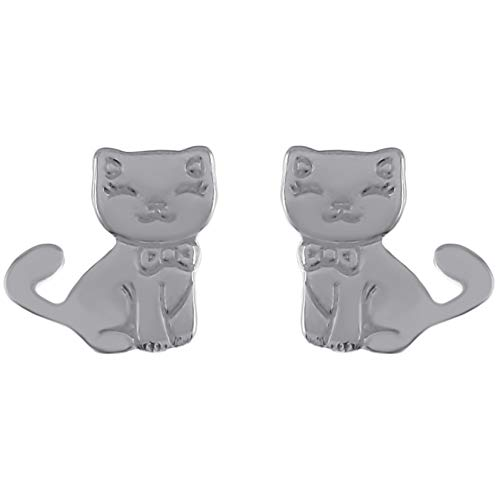 Pendientes de gato de plata 925 – Niño – nuevos