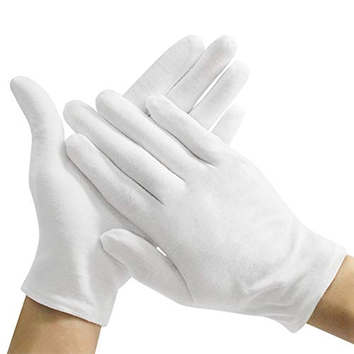 ZMYO 白手袋 綿 礼装 業務 ドライバー 式典用 メンズ 運転手 フォーマル 警備 ジュエリーグローブ 薄 レデ...