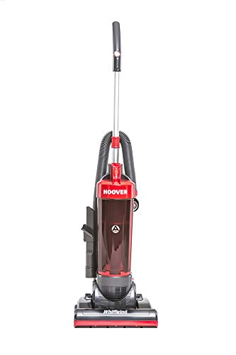 Hoover Whirlwind Bagless Upright Vacuum Cleaner, WR71WR01, Lightweight, Above Floor Cleaning, Tools Onboard - Grey/Red