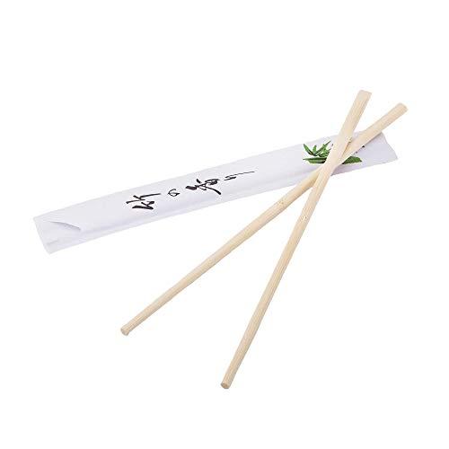 100paia di bacchette in legno di bambù, 21cm, confezionate singolarmente, usa e getta