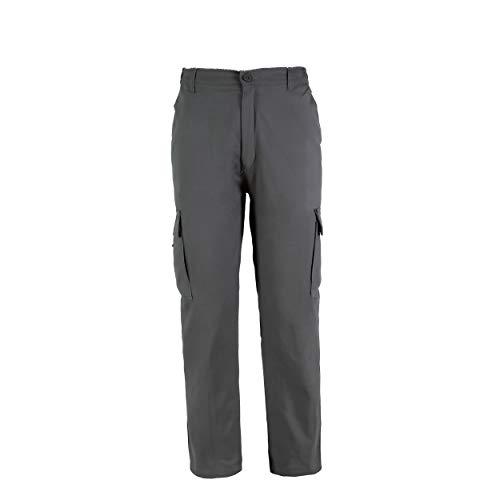Pantaloni da Lavoro Uomo, Resistenti, Grigio L