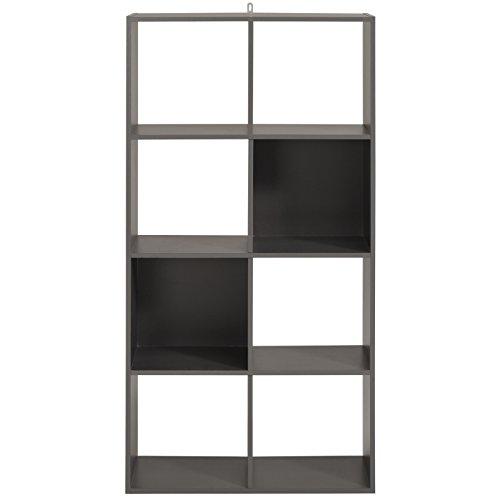 Parisot Cube 8 Cases - Kubikub - Gris Ombre - l 60 x P 30 x H 120 cm