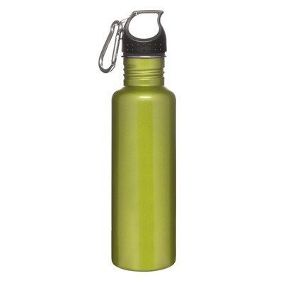 Sagaform 5016182 Sport-Flasche, Aluminium, mit Karabiner, 0,6 l, Grün