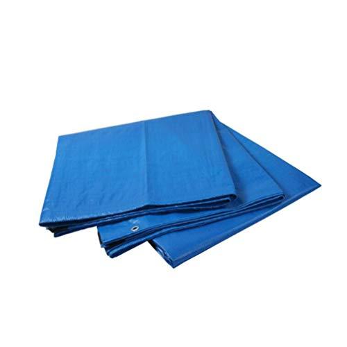 HCYTPL Afdekzeil voor houten vloerbedekking, blauw PE-zeil, zwaar belastbaar, ideaal voor outdoor-overkapping, boot, camper of zwembadafdekking