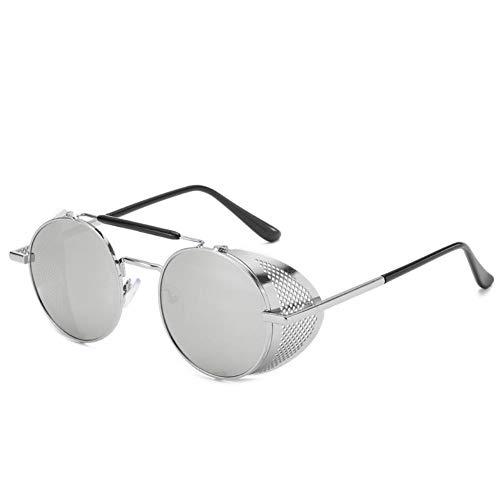 FGVBWE4R Gafas Steampunk Personalidad Parabrisas Gafas de sol Retro Color Película Reflectante Sapo Espejo, H, M
