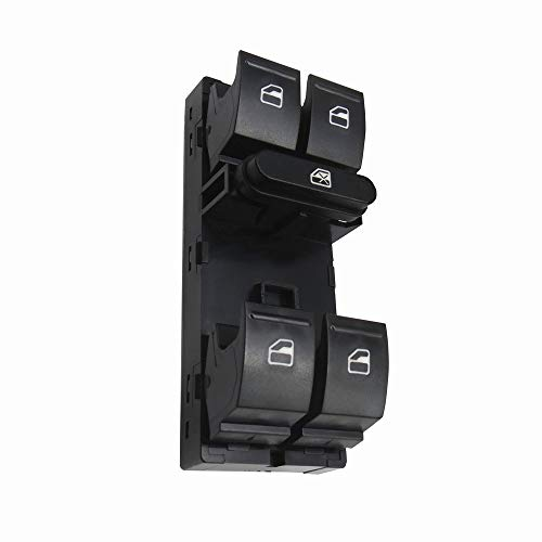 KUANGQIANWEI Potencia eléctrica Master Switch Botton Fit para V-W Golf 5 Fit for Golf 6 Fit for Jetta Mk5 Mk6 Fit for Tiguan Fit for Touran Fit for Passat B6 B7 1K4959857B