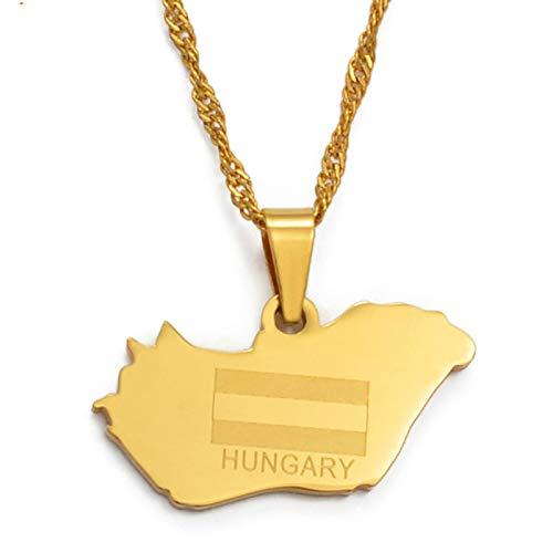 DDSH Ungarn Karte Halskette Und Anhänger Magyarorszag Landkarte Geschenk Geschenk # 023721