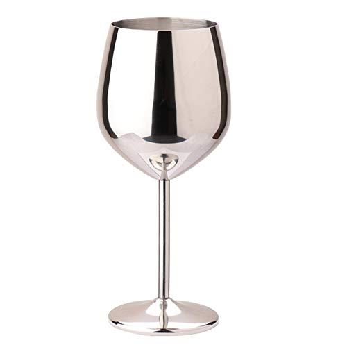 TSP Accesorios de vino de una sola capa para cocina al aire libre, 500 ml, champán, cóctel, fiesta, acero inoxidable, fácil de limpiar, copas de vino, bar para el hogar (color : espejo)