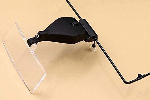 Gafas Dobles-ste de Vidrio con Luces LED Reparación de Relojes Mantenimiento de la Cabeza Mesa de reparación Lupa Antigua