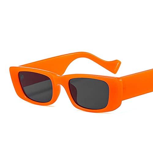 Gafas De Sol Vintage Cuadrado Gafas De Sol Marca De Viaje Pequeño Rectángulo Gafas De Sol Hombres Mujeres Retro Uv400-7