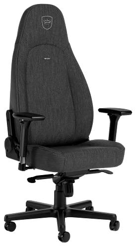 noblechairs ICON TX Schreibtischstuhl Gaming Stuhl - Chefsessel Bürostuhl Ergonomisch 150kg - Drehstuhl mit Rollen - Game Stühle - Textilgewebe - Inklusive Kissen - Anthrazit