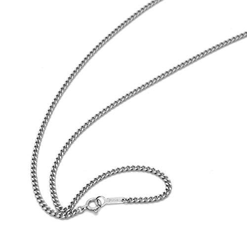 [ルビイ] プラチナ Pt850 2面カット喜平 チェーン ネックレス 幅2.1mm 長さ45cm