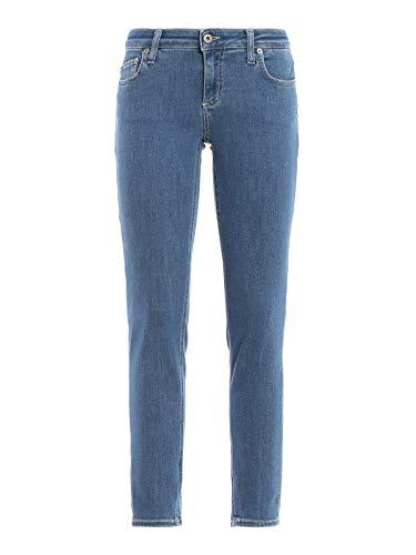 DONDUP Jeans Crop Bakony a Lavaggio Chiaro Donna 26