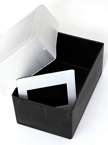 Box Aufbewahrungsbox für Dias schwarz mit halbtransparentem Deckel